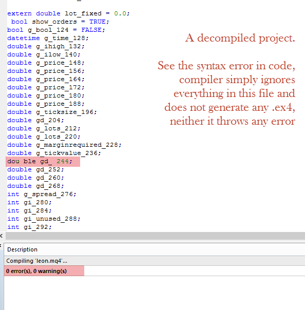 Forex decompiler